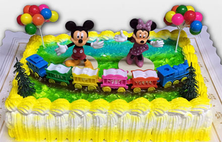 Tarta muñecos Mickey y Minnie