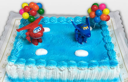 Tarta muñecos Super Wings